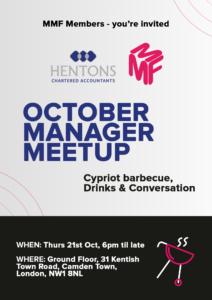 Hentons Manager Meetup October
